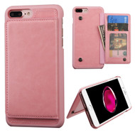 *SALE* Pocket Wallet Case with Stand for iPhone 8 Plus / 7 Plus - Pink