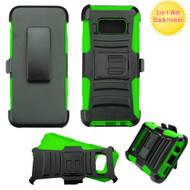 *SALE* Advanced Armor Hybrid Kickstand Case with Holster for Samsung Galaxy S8 - Black Green
