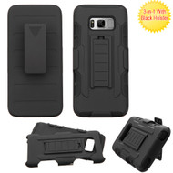 Robust Armor Stand Protector Cover with Holster for Samsung Galaxy S8 - Black