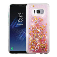 Quicksand Glitter Transparent Case for Samsung Galaxy S8 Plus - Pink
