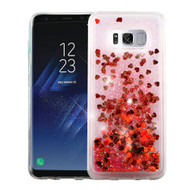 Quicksand Glitter Transparent Case for Samsung Galaxy S8 Plus - Red
