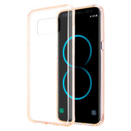 *Sale* Polymer Transparent Hybrid Case for Samsung Galaxy S8 Plus - Champagne Gold