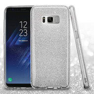 Full Glitter Hybrid Protective Case for Samsung Galaxy S8 - Silver