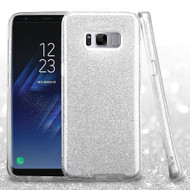 Full Glitter Hybrid Protective Case for Samsung Galaxy S8 Plus - Silver