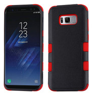 Military Grade Certified TUFF Hybrid Armor Case for Samsung Galaxy S8 Plus - Black Red