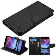 Diary Leather Wallet Case for LG K20 Plus / K20 V / K10 (2017) / Harmony - Black