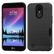 Card To Go Hybrid Case for LG K20 Plus / K20 V / K10 (2017) / Harmony - Black