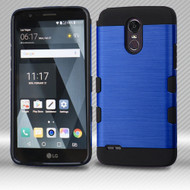Military Grade Certified TUFF Trooper Dual Layer Hybrid Armor Case for LG Stylo 3 / Stylo 3 Plus - Blue