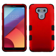 Military Grade Certified TUFF Hybrid Armor Case for LG G6 - Red