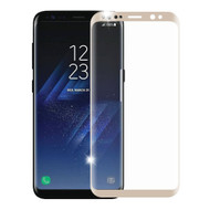 3D Curved Full Coverage Premium HD Tempered Glass Screen Protector for Samsung Galaxy S8 Plus - Gold