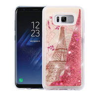 Quicksand Glitter Transparent Case for Samsung Galaxy S8 - Eiffel Tower