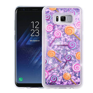 Quicksand Glitter Transparent Case for Samsung Galaxy S8 - Lollipop