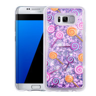 *Sale* Quicksand Glitter Transparent Case for Samsung Galaxy S8 Plus - Lollipop
