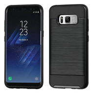 Brushed Hybrid Armor Case for Samsung Galaxy S8 Plus - Black