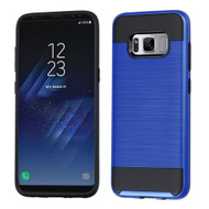 Brushed Hybrid Armor Case for Samsung Galaxy S8 Plus - Blue
