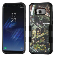 Military Grade Certified TUFF Image Hybrid Armor Case for Samsung Galaxy S8 Plus - English Oak Camouflage