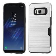 Card To Go Hybrid Case for Samsung Galaxy S8 Plus - Silver