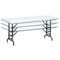 correll ra2448 4 ft correll adjustable height folding tables