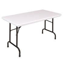 correll r2448 4ft long plastic folding table