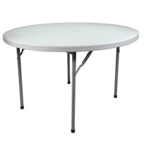 Advantage 6 ft. Round Plastic Folding Table [FTD72R] Seats 10 adults