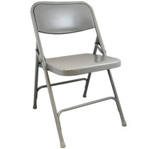 Advantage Dove Grey Metal Folding Chair [DPI903M-Grey]