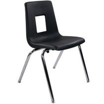 Advantage Black Student Stack School Chair - 18-inch [ADV-SSC-18BLK]