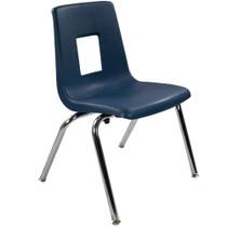 Advantage Navy Student Stack School Chair - 16-inch [ADV-SSC-16NAVY]