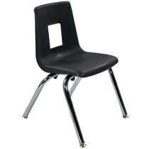 Advantage Black Student Stack School Chair - 14-inch [ADV-SSC-14BLK]