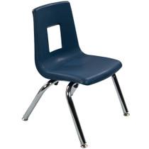 Advantage Navy Student Stack School Chair - 12-inch [ADV-SSC-12NAVY]