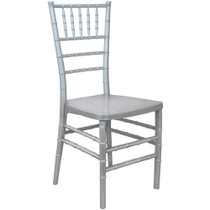 Advantage Silver Monoblock Resin Chiavari Chair [RSCHI-MONO-S]