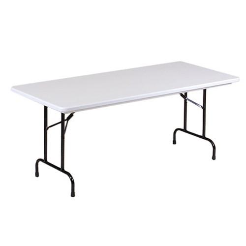 correll r3072 6ft long plastic folding table