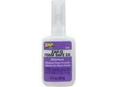 Pacer Zap Adhesives Zap-O Odorless CA+ Foam Safe Glue .7 oz PT25