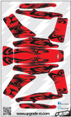 Upgrade RC Black/Red Kabuki Skin / Decal / Sticker 200QX UPG7205
