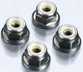 Tekno R/C M4 Locknuts (Aluminum/Flanged/Serrated) (4) TKR1213