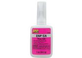 Pacer Zap Adhesives Zap CA Glue Thin 1 oz PT08