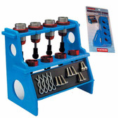Kyosho 36218 Shock Absorber Pits Holder Stand w/ Magnetic Strip (Blue)