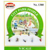 Model Power 1380 City Park People (9 Pcs) : N Scale