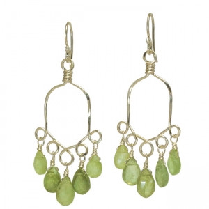 Customizable Exotic Chandelier Earrings,  Peridot Shown