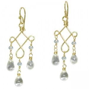 Aquamarine Chandelier Earrings