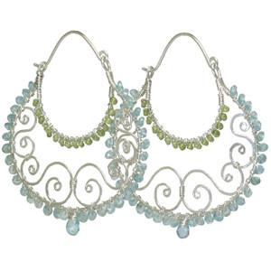 Aqua Gemstone Earrings
