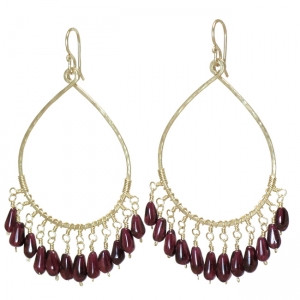Red Garnet Dangle Earrings