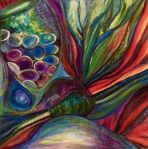 """Sea My Sea Glass"" Painting"