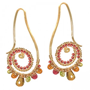 Multi Colored Gem Earrings, Whimsical