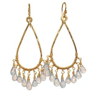 Aquamarine Drop Earrings in Gold or Silver