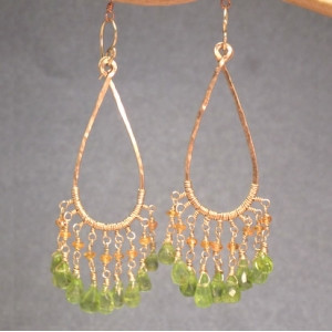 Aqua Green Crystal Chandelier Earrings with Mixed Gems