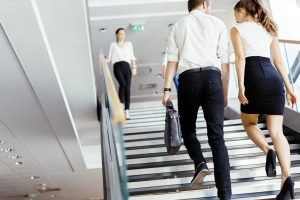 Take the stairs for a good workout at work.