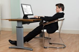 Opt for a standing desk instead of sitting.
