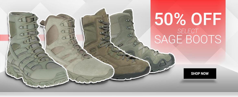 50% OFF ABU SAGE BOOTS
