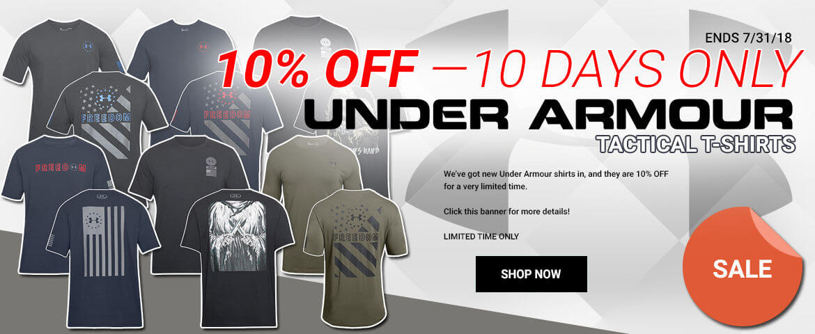10% OFF Under Armour Tactical Tees!