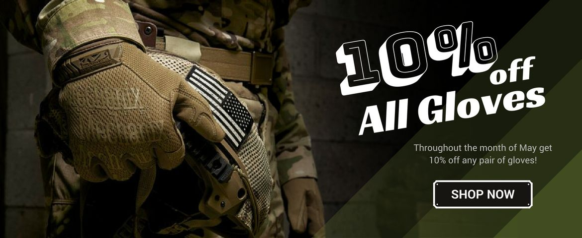 10% OFF All Gloves in May!
